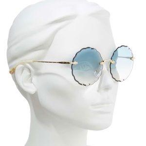 Chloe Rosie 60mm Scalloped Sunglasses